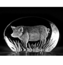 Mats Jonasson Maleras Swedish Crystal Pig