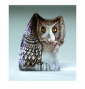 Mats Jonasson Maleras Swedish Crystal Safari Owl, Facing Right