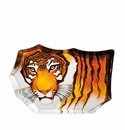 Mats Jonasson Maleras Swedish Safari Crystal Tiger, Large