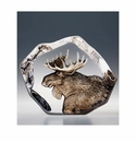 Mats Jonasson Maleras Swedish Crystal Safari Moose Head