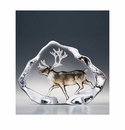 Mats Jonasson Maleras Swedish Crystal Safari Reindeer