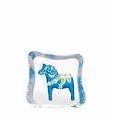 Mats Jonasson Maleras Swedish Crystal Blue Dalecarlia Horse, Small