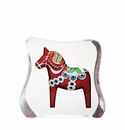 Mats Jonasson Maleras Swedish Crystal Red Dalecarlia Horse, Large