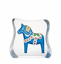 Mats Jonasson Maleras Swedish Crystal Blue Dalecarlia Horse, Large