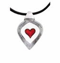 Mats Jonasson Maleras Swedish Crystal Heart Necklace, Small
