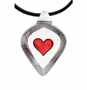 Mats Jonasson Maleras Swedish Crystal Heart Necklace, Large