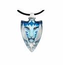 Mats Jonasson Maleras Swedish Crystal Tigris Blue Necklace