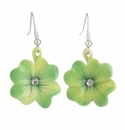 Franz Collection Porcelain Shamrock Earrings