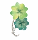 Franz Collection Porcelain Shamrock Pin