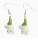 Franz Collection Porcelain Summer Snowflake Earrings
