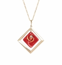 Franz Collection Porcelain Red Rose Necklace