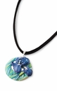 Franz Collection Porcelain Jewelry Van Gogh Iris Necklace
