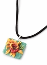 Franz Porcelain Collection Van Gogh Sunflowers Necklace