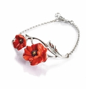 Franz Collection Poppy Flower Sculptured Porcelain Bracelet