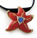 Franz Collection Starfish Sculptured Porcelain Necklace