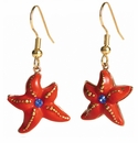Franz Collection Starfish Sculptured Porcelain Earrings