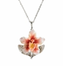 Franz Collection Sculptured Porcelain Orchid Necklace