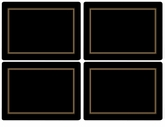 Pimpernel Classic Black Placemats Set of 4