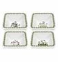 "Portmeirion Botanic Garden 4"" Mini Square Bowls (Assorted Set of 4)"