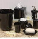 Skyros Designs Royale Bath Waste Basket - Black
