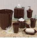 Skyros Designs Royale Bath Waste Basket - Chocolate