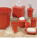 Skyros Designs Royale Bath Waste Basket - Persimmon