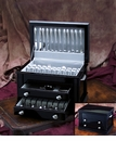 Ricci Flatware Black Laquer 3-Drawer Flatware Chest