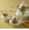 Royal Albert Old Country Roses - Teapot, Creamer, Sugar Set