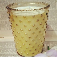 Simpatico Hobnail Glass Candle - 16 Oz Blood Orange
