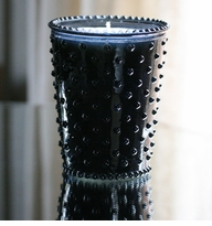 Simpatico Hobnail Glass Candle - 16 Oz Ambergris