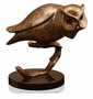 Gallery Brass and Marble Owl on Branch Sculpture by SPI Home