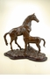 Horse with Colt Sculpture by SPI Home