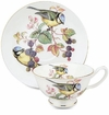 Blue Bird Bone China Tea Cup & Saucer Set