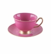 Satin Shelley Bone China Hot Pink Tea Cup & Saucer Set