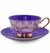 Satin Shelley Purple Bone China Tea Cup & Saucer Set