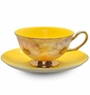 Satin Shelley Yellow Bone China Tea Cup & Saucer Set
