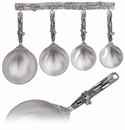 Crosby & Taylor (Tin Woodsman) Dragonfly Measuring Cups with Pewter Display Strip
