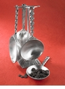 Crosby & Taylor (Tin Woodsman) Heart Measuring Cups With Pewter Display Post