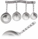 Crosby & Taylor (Tin Woodsman) Heart Measuring Cups With Pewter Display Strip
