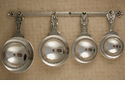 Crosby & Taylor (Tin Woodsman) Pewter Fleur de Lis Measuring Cups with Display Strip