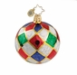 Christopher Radko Christmas Ornament - Harlquin Ball Mini