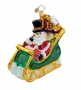 Christopher Radko Christmas Ornament - Thames Street Sleigh Ride
