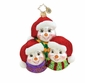 Christopher Radko Christmas Ornament - Frosty Family Portrait