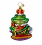 Christopher Radko Christmas Ornament - Royal Ribbit