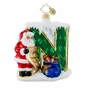 "Christopher Radko Christmas Ornament - Makin' a List ""N"""