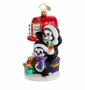Christopher Radko Christmas Ornament - Postal Penguins