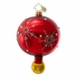 Christopher Radko Christmas Ornament - Snowflake Cascade Red