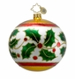 Christopher Radko Christmas Ornament - Holly Leaf Ribbon
