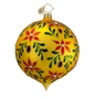 Christopher Radko Christmas Ornament - Painted Leaf Glory Gold