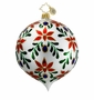 Christopher Radko Christmas Ornament - Painted Leaf Glory White